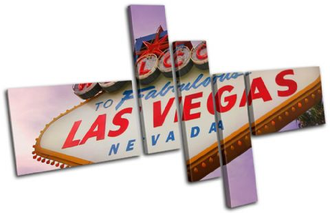 Las Vagas sign Purple Landmarks - 13-0042(00B)-MP18-LO